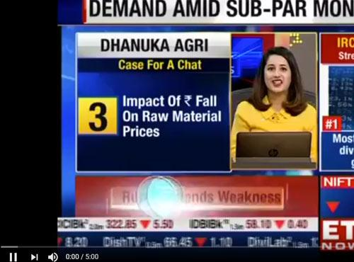 ET - MD Mr. MK Dhanuka Speaks with ET on Kharif Performance 2018