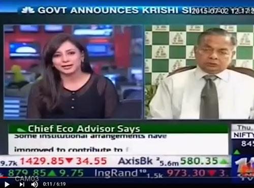 CNBC 18 - Shri R G Aggarwal, Chairman, DAL interview on Krishi Sinchayi Yojana