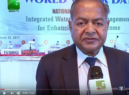 GREEN TV - GC Shri RG Agarwal Speaks on Save Water Campaign
