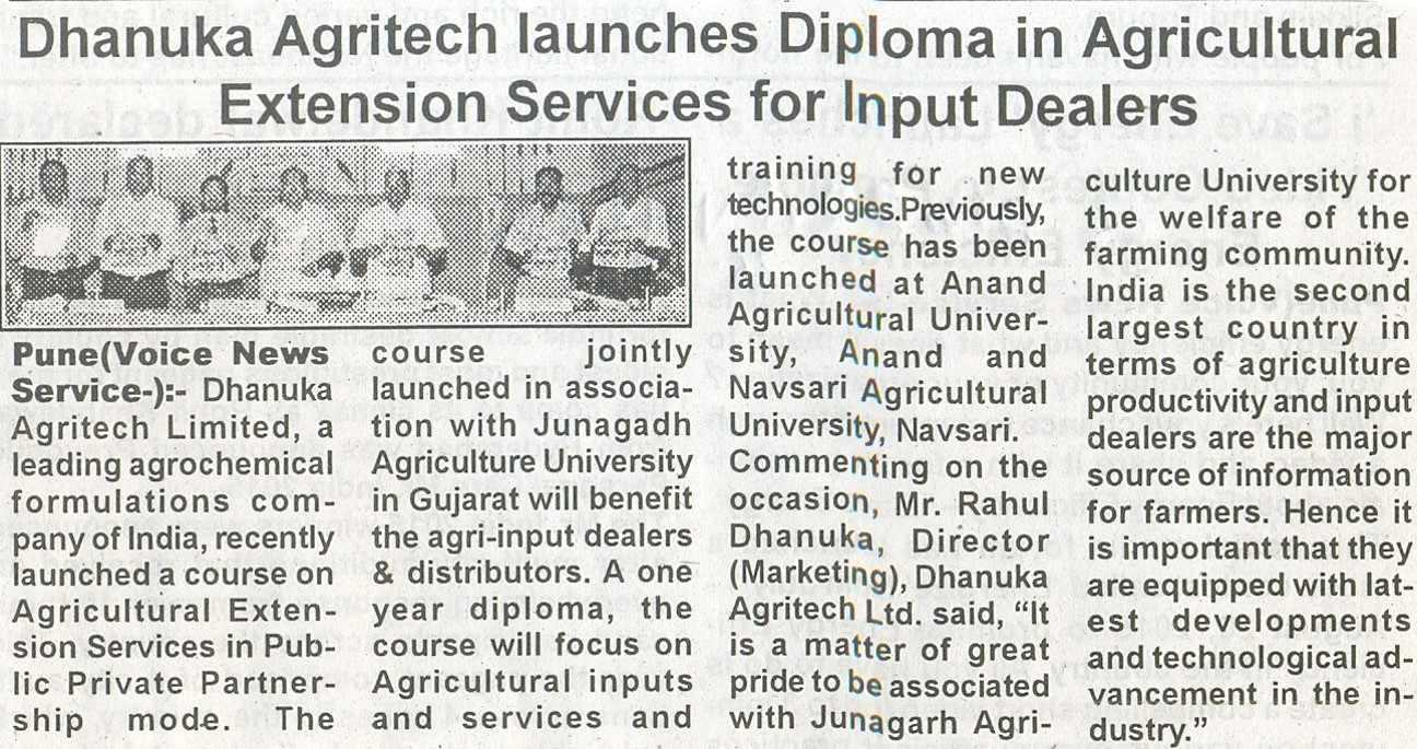 2015 Power of Voice Diploma in Agri extn  for Agri  Dealers